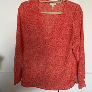 Joie Red Patterned Blouse